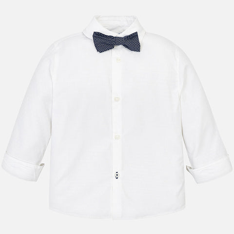 Mayoral LS Stretch Shirt 3139 White (7-8 Years) (8-9 Years)
