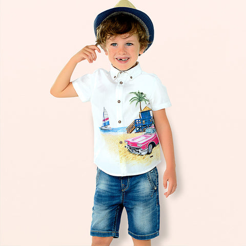 Mayoral Soft Denim Bermuda Shorts 3234 (2-3 Years) (7-8 Years) (8-9 Years)