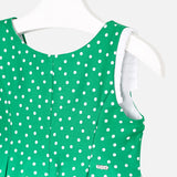 Mayoral Polka Dot Flower Dress 3932 Green