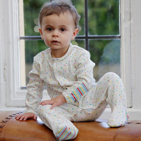 Piccalilly Footed Sleepsuit Ditsy Star