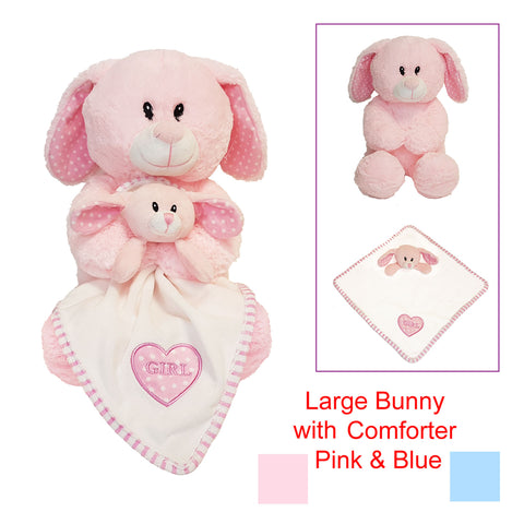 Super soft Bunny with detachable comforter