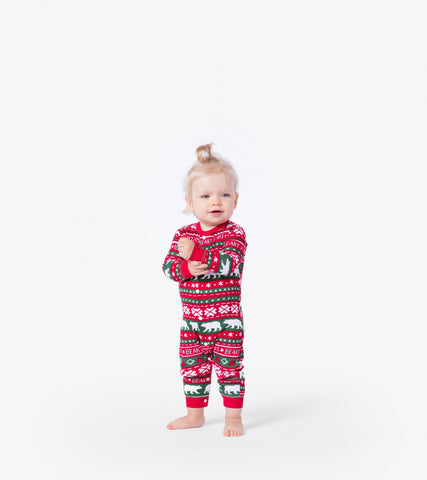 Hatley Beary Xmas Union Suit Infant