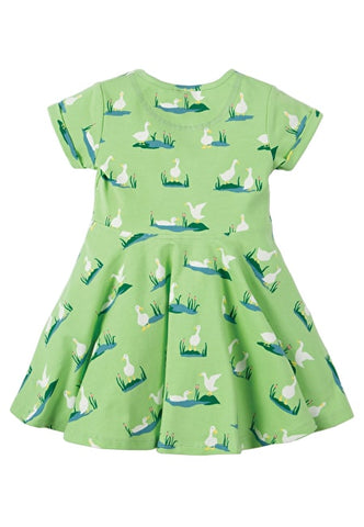 Frugi Little Spring Dress (Duck Ponds)