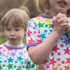 The Bunting Tree - The Bunting Tree Organic Rainbow Star SS Tee RSTS - Top | Sherbet Kidswear & Gifts - Ethical Children's Clothing and Eco-Friendly Kids Apparel
