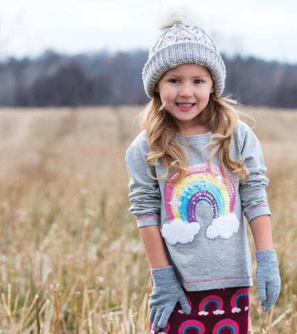Hatley - Hatley Retro Rainbow Long Sleeve Tee - Top | Sherbet Kidswear & Gifts - Children's Tops, Kids Polo Shirts, Longsleeve Shirts for Boys and Girls