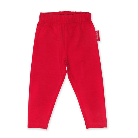 Toby Tiger Plain Red Legging (6-12 Months) (2-3 yrs) (5-6 Yrs)