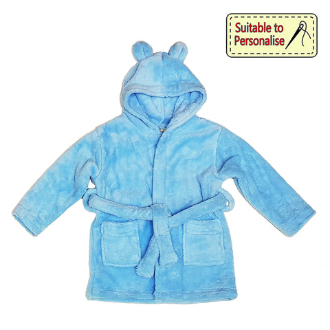 Daydream Robe with Teddy Ears Baby Blue