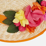 Mayoral Flower Straw Hat 10613