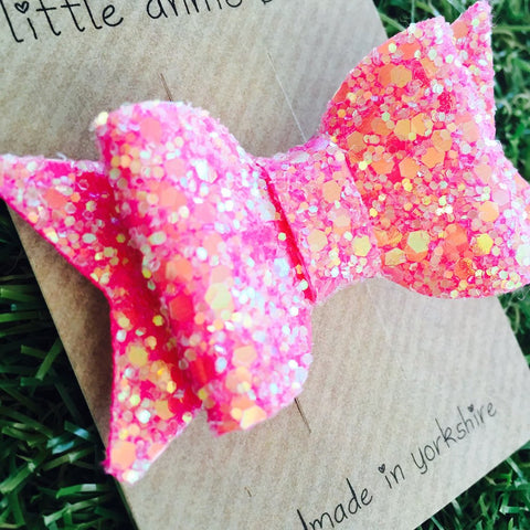 Little Annie-Bets - Little Annie-Bets Glitter Bow - Accessories | Sherbet Kidswear & Gifts - Children's Clothing on Sale, Discounted Kids Apparel
