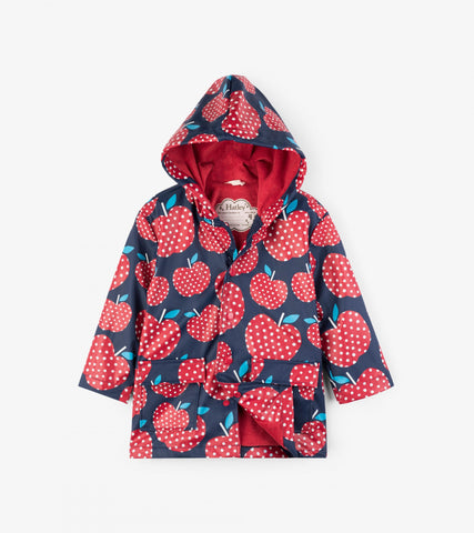 Hatley - Hatley Polka Dot Apples Rain Jacket - Outerwear | Sherbet Kidswear & Gifts - Children's Outerwear, Toddler Jackets, Baby Coats, for Boys and Girls 0-11 Years Old