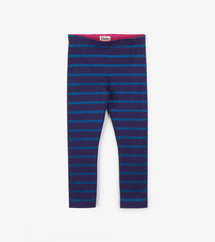 Hatley - Hatley Glitter Striped Leggings F18DAK1222 - Legging | Sherbet Kidswear & Gifts - Ethical Children's Clothing and Eco-Friendly Kids Apparel