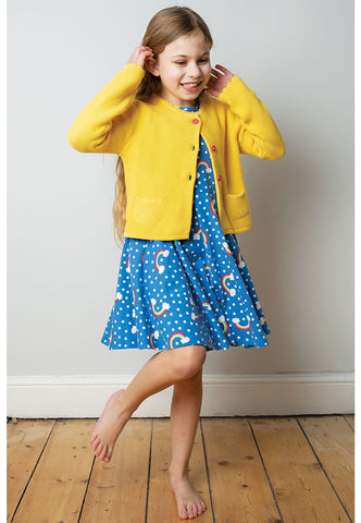 Frugi Milly cardigan yellow (2-3 Years) (8-9 years) (9-10 Years)