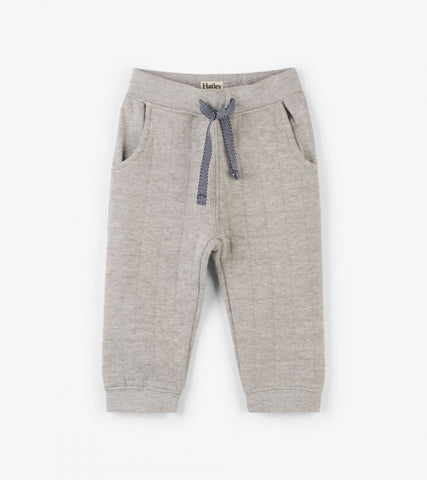 Hatley - Hatley Grey Quilted Baby Jogger - Pant | Sherbet Kidswear & Gifts - Children's Trousers, Kids Pants, Toddler Corduroy