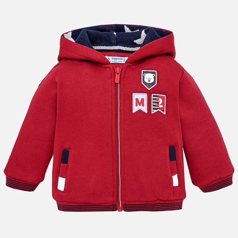 Mayoral - Mayoral Hooded cardigan Goji Berry 2491 - Hoodie | Sherbet Kidswear & Gifts - Ethical Children's Clothing and Eco-Friendly Kids Apparel