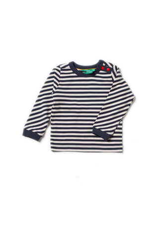 Little Green Radicals - Little Green Radicals Navy Stripe Long Sleeve Top A18112 - Top | Sherbet Kidswear & Gifts - Children's Tops, Kids Polo Shirts, Longsleeve Shirts for Boys and Girls