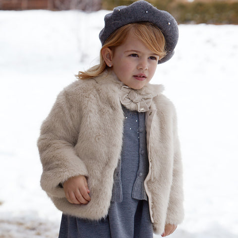 Mayoral Faux Fur Coat 4494 (7-8 Years)