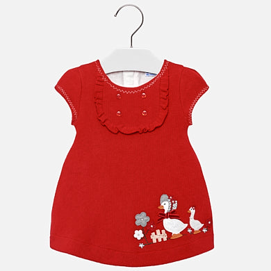 Mayoral - Mayoral red Geese Dress 2910 - Dress | Sherbet Kidswear & Gifts - Ethical Children's Clothing and Eco-Friendly Kids Apparel