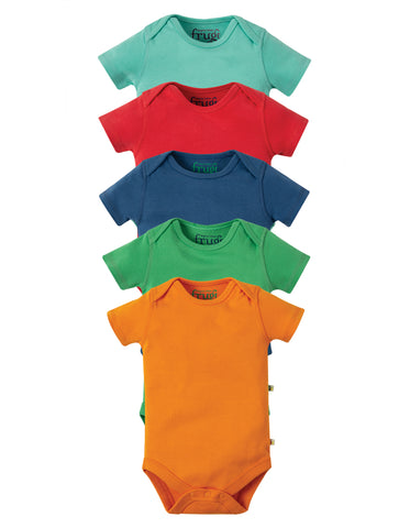 Frugi Over the Rainbow 5 Pack Vest (Rainbow Multipack)