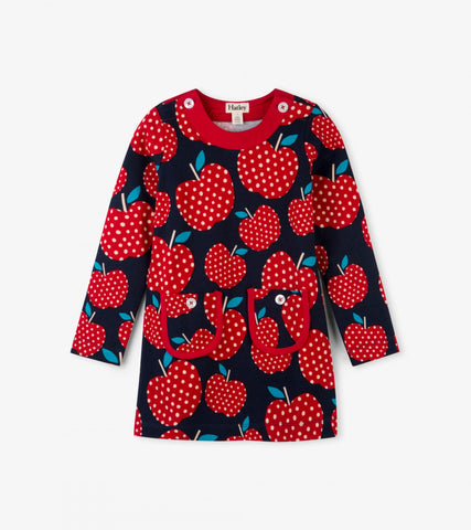Hatley - Hatley Polka Dot Apples Mod Dress - Dress | Sherbet Kidswear & Gifts - Ethical Children's Clothing and Eco-Friendly Kids Apparel