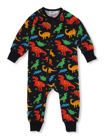 JNY - JNY Jumpsuit Zip Dino - Babygrow/Sleepsuit | Sherbet Kidswear & Gifts - Ethical Children's Clothing and Eco-Friendly Kids Apparel