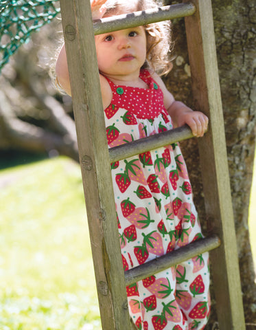 Frugi Springtime Dungaree (Scilly Strawberries)