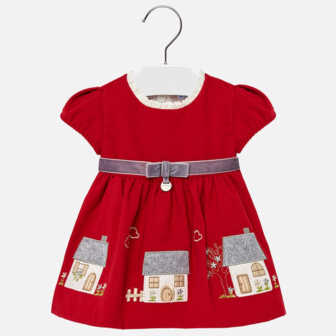 Mayoral dress with Embroidery detail 2928 (12-18 Months) (18-24 Months)