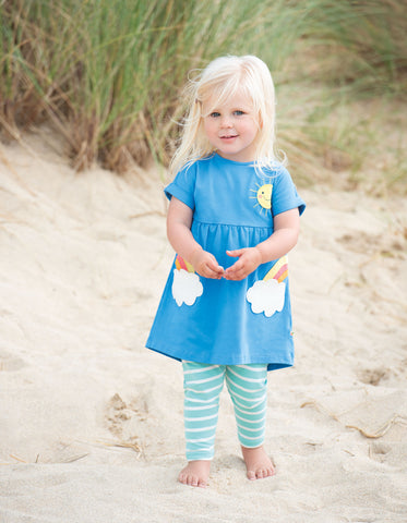 Frugi Olive Outfit (Sail Blue/Clouds) (0-3 Months) (3-6 Months) (6-12 Months) (3-4 Years)