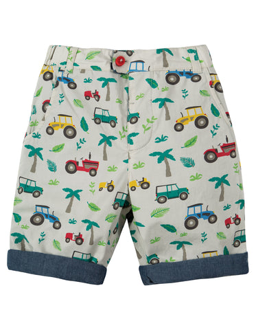 Frugi Reuben Reversible Shorts (Tropical Tresco)