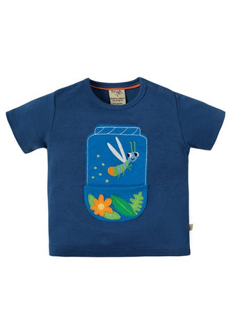 Frugi Polzeath Pocket Top (Marine Blue/Firefly) (3-4 Years)