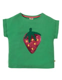 Frugi Bella Sequin T-Shirt (Field/Strawberry) (2-3 Years) (7-8 Years)