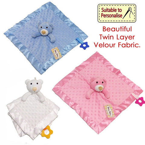 BabyBow - Baby Baby Comforter Q14C - Personalised Items | Sherbet Kidswear & Gifts - Kids Toys, Children's Dolls, Personalised Toys