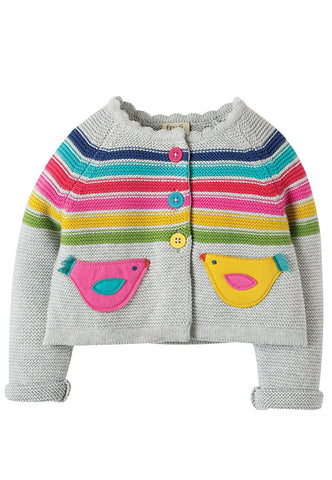 Frugi - Frugi Sarah Swing Cardigan - Knit | Sherbet Kidswear & Gifts - Ethical Children's Clothing and Eco-Friendly Kids Apparel