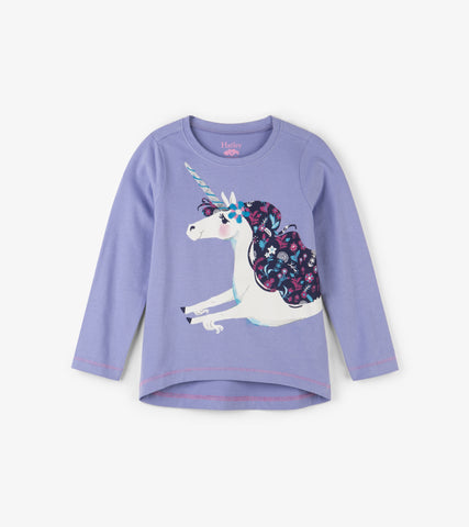 Hatley - Hatley Lovely Unicorn Long Sleeve Tee - Top | Sherbet Kidswear & Gifts - Children's Tops, Kids Polo Shirts, Longsleeve Shirts for Boys and Girls