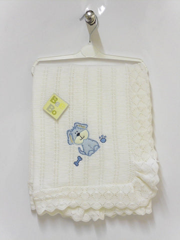 BabyBow - Puppy Shawl Blue - Blanket | Sherbet Kidswear & Gifts - Children's Clothing on Sale, Discounted Kids Apparel