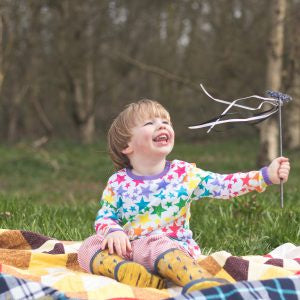 The Bunting Tree - The Bunting Tree Organic LS Rainbow Stars Top RSLS - Top | Sherbet Kidswear & Gifts - Ethical Children's Clothing and Eco-Friendly Kids Apparel