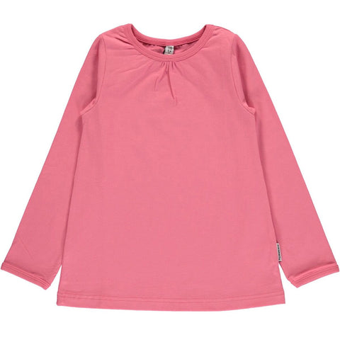 Maxomorra LS Top A-Line Rose Pink