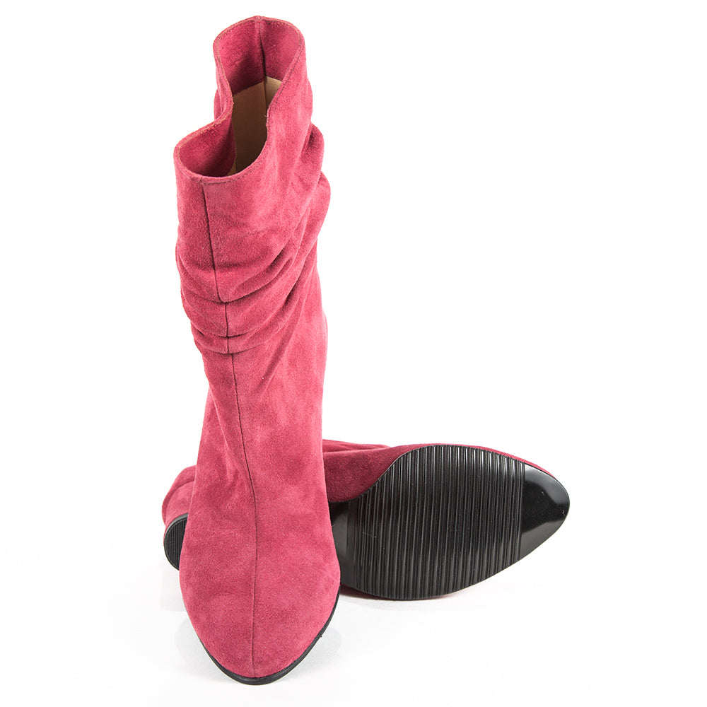 Ghete din piele naturala Pink Style