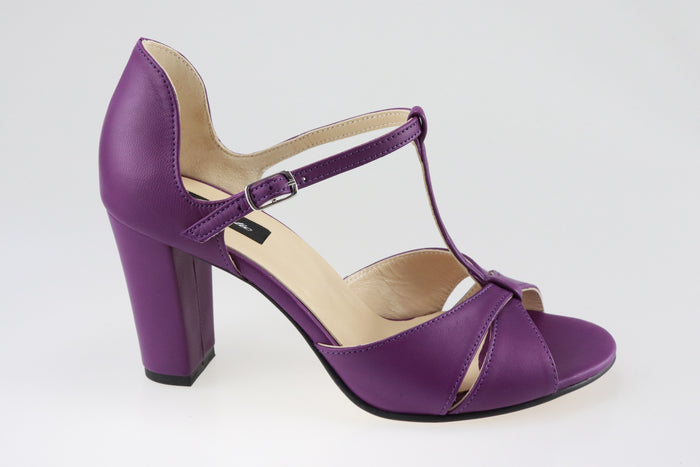 Sandale din piele naturala Purple Dream