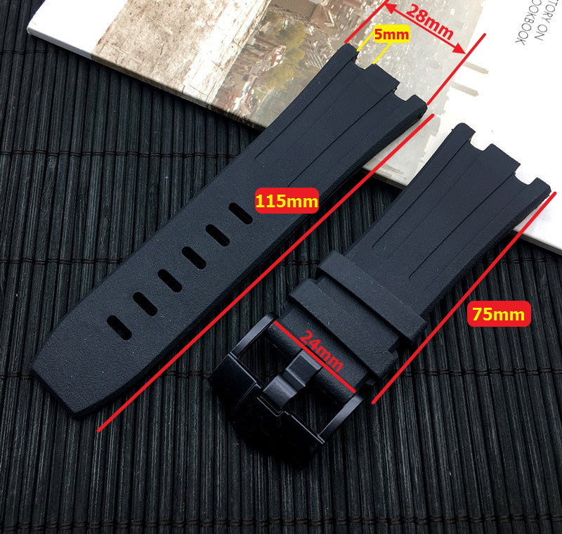ROYAL 28mm Rubber Watch Strap Band for AP Audemars Piguet Royal Oak Offshore
