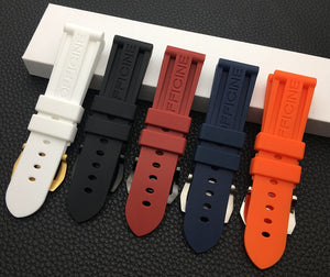SUB Waterproof Rubber Watch Band for Panerai PAM Logo Buckle 22mm 24mm 26mm 5 Colors