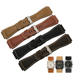 BELLTIME 24x33mm Italy Soft Calf Leather Watch Band Strap For Bell & Ross BR-01 BR-03