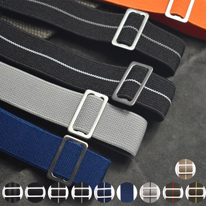 PARACORP Braid French Navy MN Style Elastic Nylon Watch Strap Band 18mm 20mm 22mm