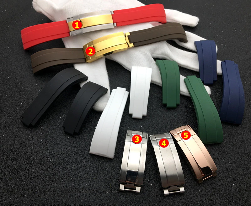 YACHT 20mm Silicone Rubber Watch Band Strap For Daytona Submariner GMT Datejust