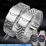 DIVER 22mm Stainless Steel Watch Band Bracelet Curved End For Seiko SKX007 SKX009 SKX011
