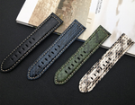 NAGINI 22mm 24mm Lux Italy Snakeskin Leather Watch Band Strap For Panerai PAM 111/386/441/1312
