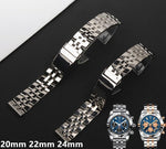 NAVIGATOR 20mm 22mm 24mm Stainless Steel Watch Band Bracelet For Breitling Navitimer Avenger