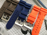 CHOUC Waterproof Rubber Watch Band for Panerai PAM Logo Buckle 24mm 26mm 8 Colors