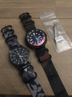 JUNGLE Camouflage Nylon NATO ZULU Watch Band 18mm 20mm 22mm Strap with 5-Rings Black Buckle