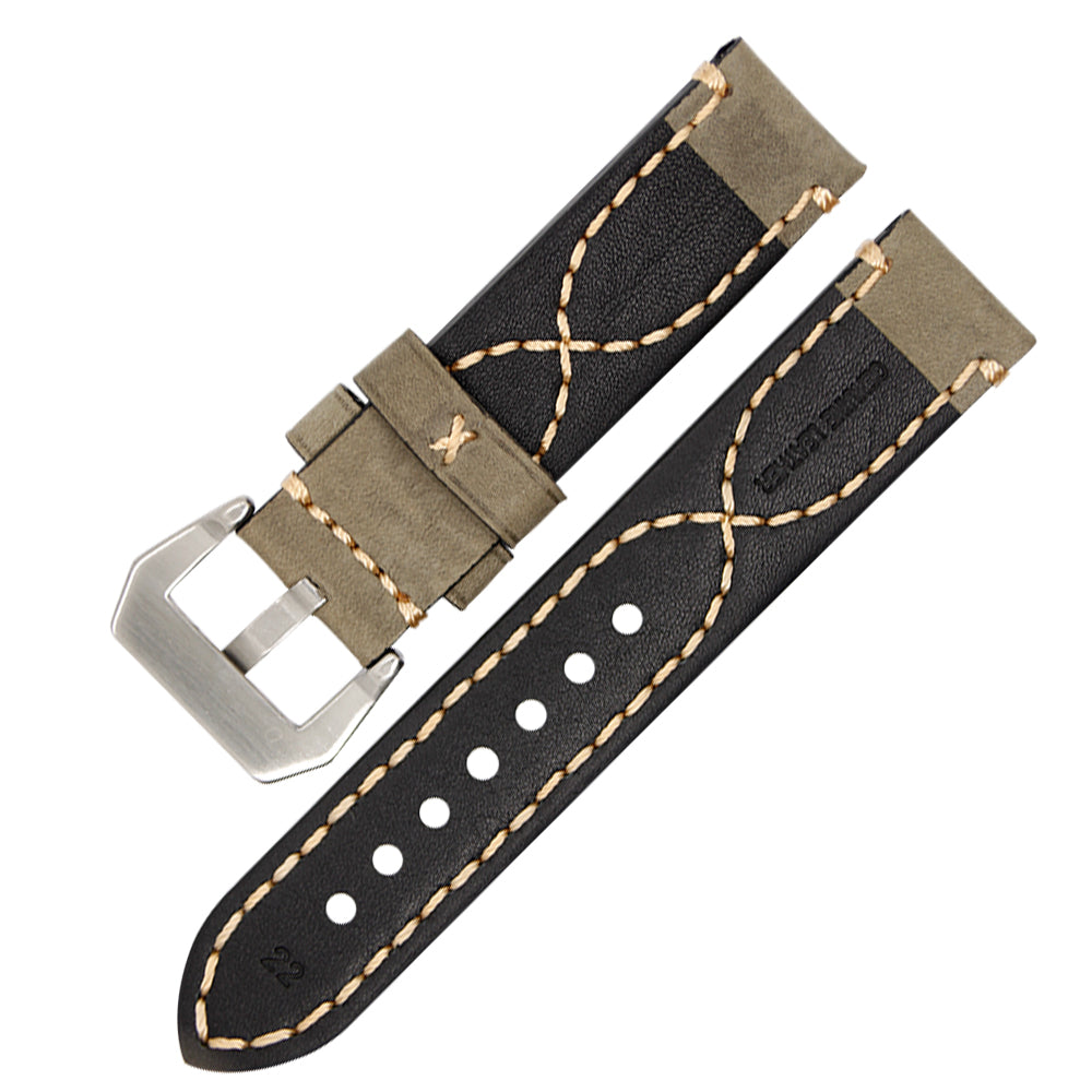 DARKNIGHT Genuine Italy Leather Watch Band Strap for Panerai 20mm 22mm 24mm 26mm