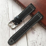 MARKO 20mm 21mm Calf Leather Watch Band Strap w/Logo For IWC Pilot Mark XVIII